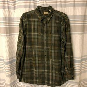 LL Bean Green Brown Flannel XL Tall